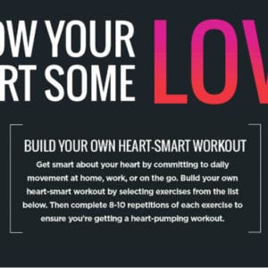 INFOGRAPHIC: Printable, customizable heart-smart workout